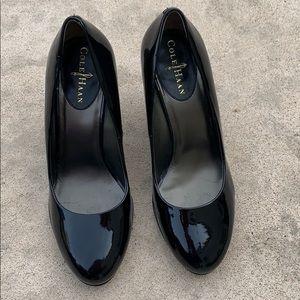 Cole Haan Balck Patent Leather Wedge Heel 8.5